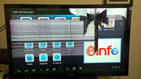 Các lỗi hỏng hóc thường gặp trên tivi